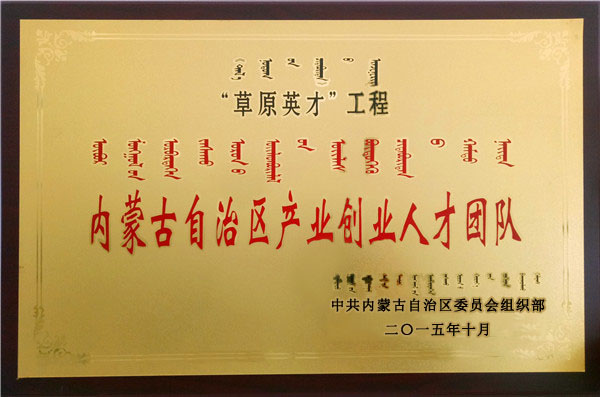 内蒙古自治区产业创业人才团队